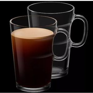 Nespresso Set Of 2 View Americano Mugs NWT Clear